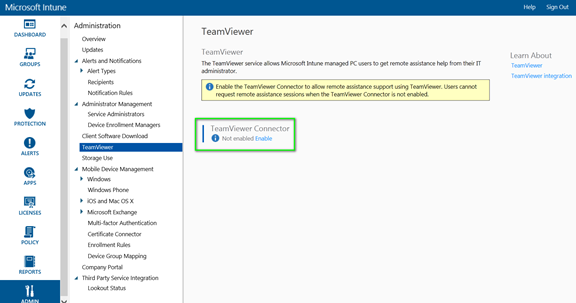 TeamViewer Integration with Microsoft Intune « Sun Behind the Clouds