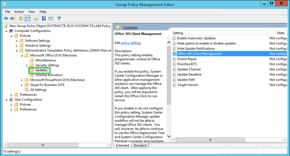 Updating Office 365 Pro Plus with Configuration Manager
